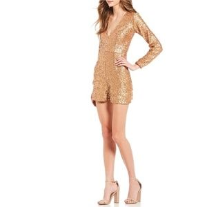 Dress the Population Bianca Sequin Long Sleeve Rom